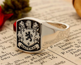MackHS9 Signet Ring available in Silver or Gold - Macknay Family Crest