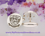 Laser Engraved Cufflinks Your Own Design Sterling Silver