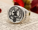 Fraser of Lovat Scottish Clan Signet Ring Silver HS44