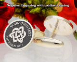 Personalised Trinity Cufflinks add your own text, negative