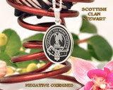 Stewart Scottish Clan Oval Pendant