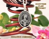 Stewart Scottish Clan Oval Pendant