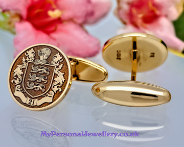 Family Crest Cufflinks Silver or Gold New Design