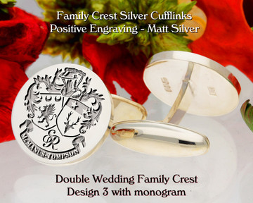 Double Wedding Family Crest Cufflinks D3