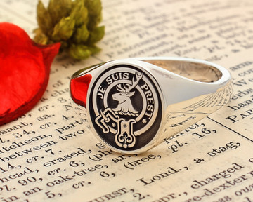 Fraser of Lovat Scottish Clan Ring Silver HS8
