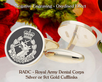 RADC Royal Army Dental Corps Silver or 9ct Gold Cufflinks