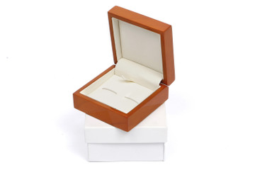 Tan Finish Cufflink Box