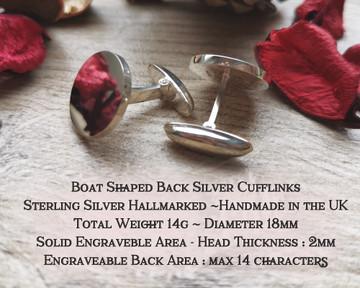 Wilson Scottish Clan Cufflinks  in Silver or 9ct Gold