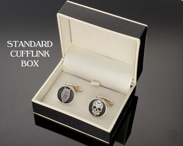 Gould Family Crest Cufflinks Silver or 9ct Gold