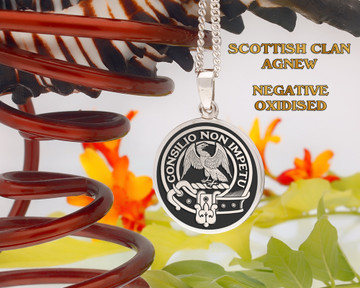 Agnew Scottish Clan Pendant Round, or Oval