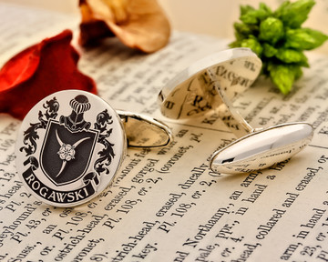 Ragawski Family Crest Silver or 9ct Gold Cufflinks
