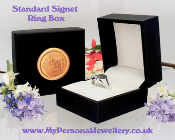 Standard Signet Ring box included with MPJ wax seal