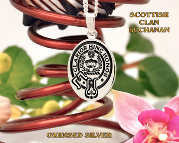 Buchanan Scottish Clan Pendant Oval