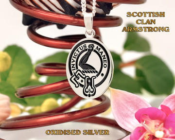 Scottish Clan Armstrong - Oval Pendant