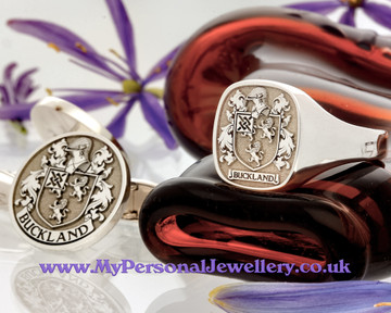Signet Ring HS3 and Cufflinks  Buckland Family Crest