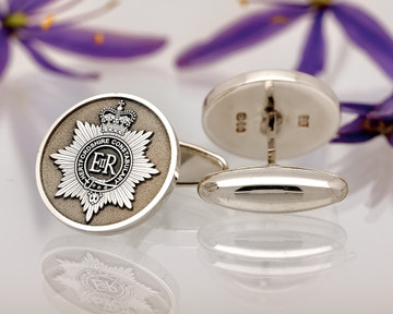 Hereford Constabulary Engraved Silver Cufflinks