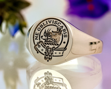 Campbell Scottish Clan Signet Silver Positive Engraving