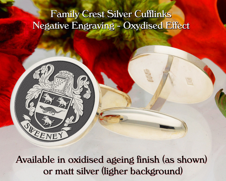 Sweeney Family Crest D1 Cufflinks