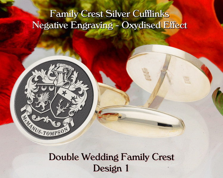 Double Wedding Family Crest Cufflinks D1