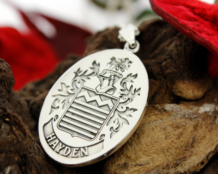 HAYDEN Engraved Pendant design, also available in Silver Cufflinks, other designs also available, full customised.