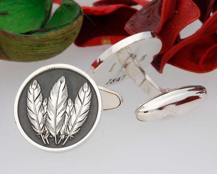 Native American Design Cufflinks - Negative Engraving