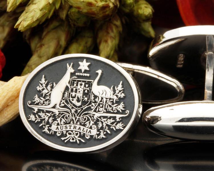 Australian Coat of Arms Oval Cufflinks