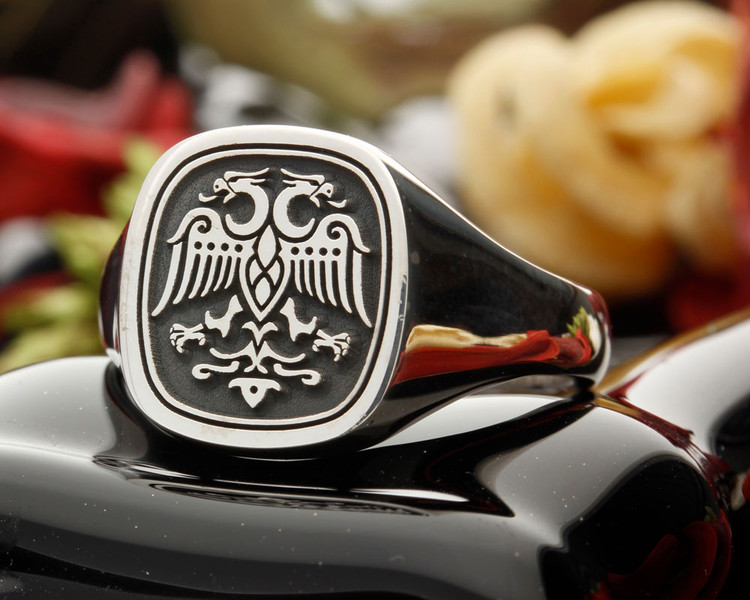Signet Ring HS3 13x13 Cushion available for family crest designs