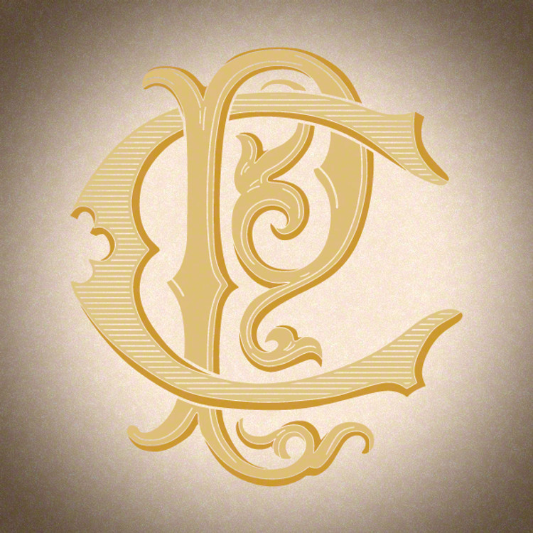 Victorian Monogram CP PC D3 - hand drawn design, graphic design only - download