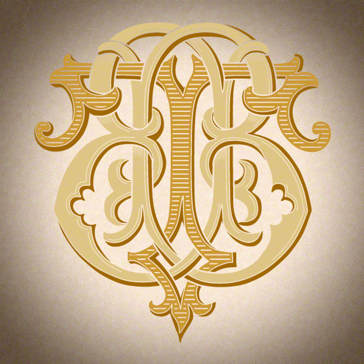 Victorian Monogram BT TB D3 - hand drawn design, graphic design only - download