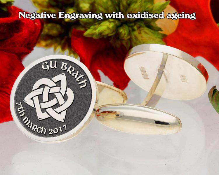 Gu Brath - Forever Trinity Heart Cufflinks negative