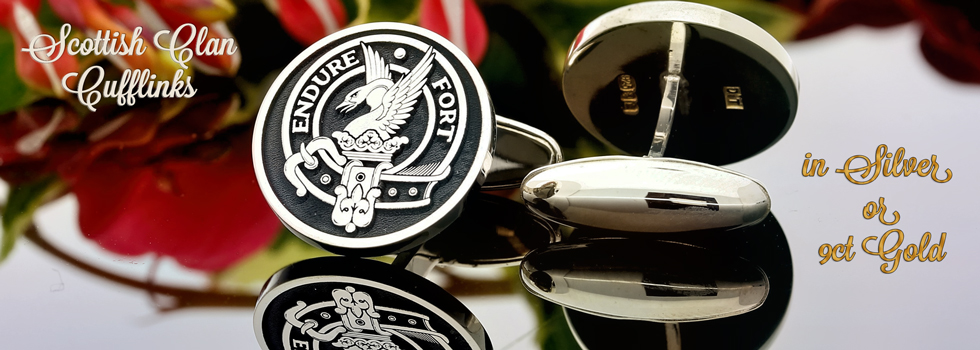 Cufflinks Scottish Clan Designs