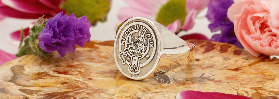 Scottish Clan Signet Rings Silver and Gold