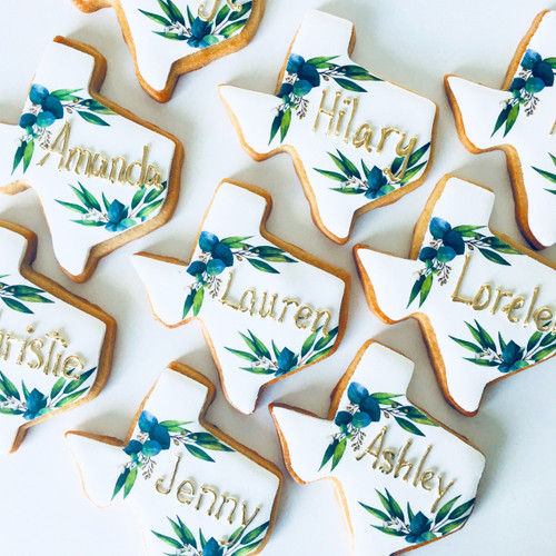 Custom Texas Shaped Cookies
