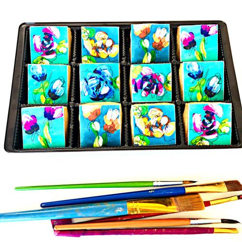 Ash Almonte - Flower Art - 12 mini cookie gift set