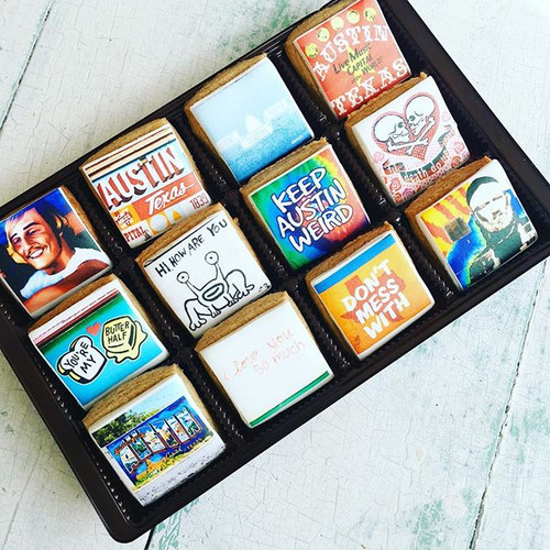 Austin Mural - 12 mini cookie gift set