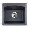 """Swanstone QZBS-1816 SwanXpress Drop-In Granite Bar Sink 18""""W x 16""""D"""