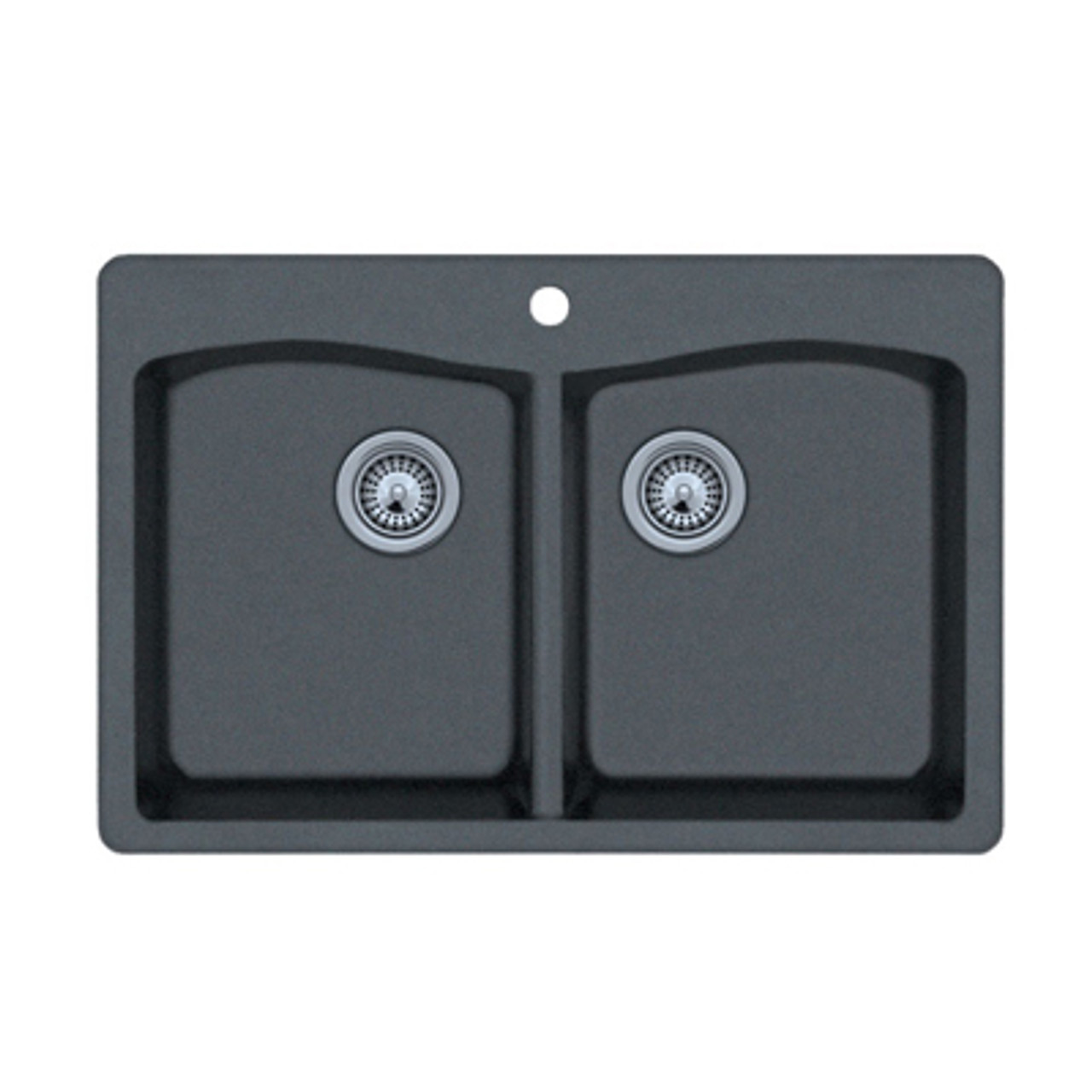 Swanstone Qzed 3322 Drop In Even Double Bowl Granite Kitchen Sink 33 W X 22 D Swanstone Products Eplumbing Products Inc