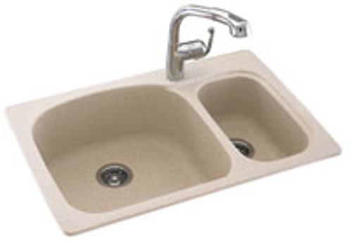 Swanstone KSLS-3322 Double Large/Small Bowl - Solid Color