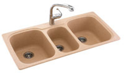 Swanstone KSTB-4422 Triple Bowl - Solid Color