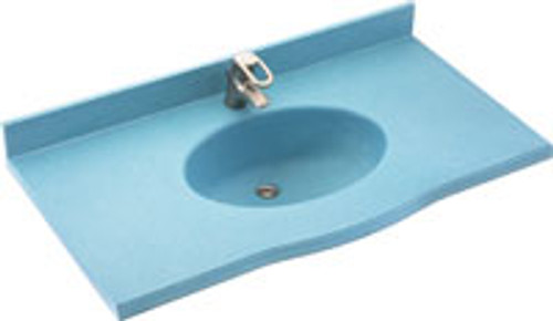 "Swanstone EV1B2261 Europa Vanity Top 22-1/2""D x 61""W - Aggregate Color"
