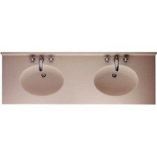 Swanstone CH2B2273 Chesapeake Double Bowl Vanity Top - Solid Color