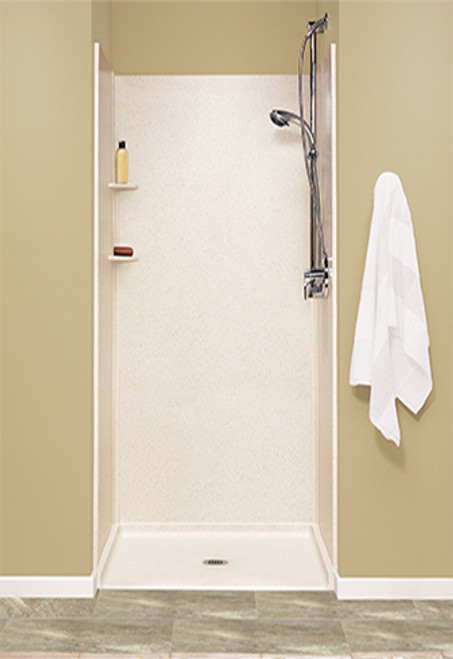 """Swanstone SK-363672 Solid Surface Shower Wall Kit 36"""" x 36"""" x 72"""" - Solid Color"""