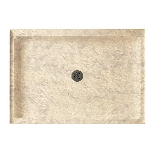 """Swanstone SS-3442 Single Threshold Shower Floor 34"""" x 42"""" - Solid Color"""