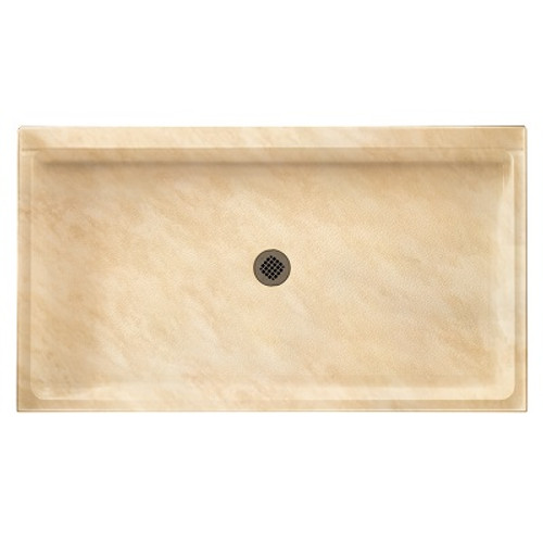 """Swanstone SS-3460 Single Threshold Shower Floor 34"""" x 60"""" - Solid Color"""