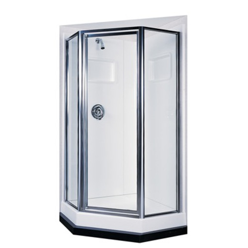Swanstone SD-38NEO Angle Shower Door Kit - Obscure Glass