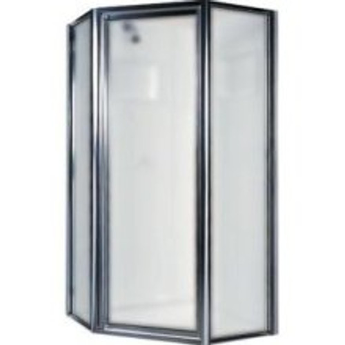 Swanstone SD-36NEO Angle Shower Door Kit Chrome - Obscure Glass