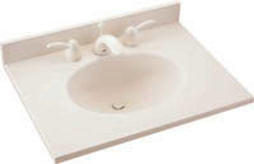 "Swanstone VT1B2231 Ellipse Vanity Top 31""W x 22""D - Aggregate Color"
