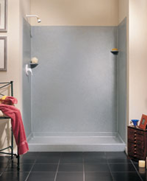 "Swanstone SK-363696 Solid Surface Shower Wall Kit 36"" x 36"" x 96"" - Solid Color"