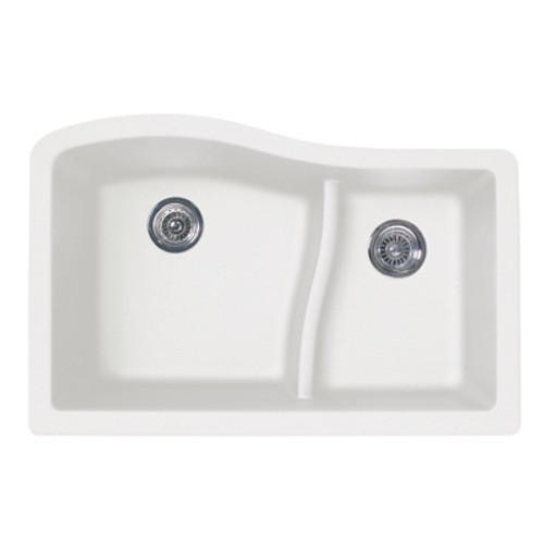 Swanstone QULS-3322 Granite Undermount Large/Small Bowl