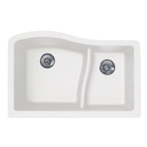 Swanstone QULS-3322 Granite Undermount Large/Small Bowl